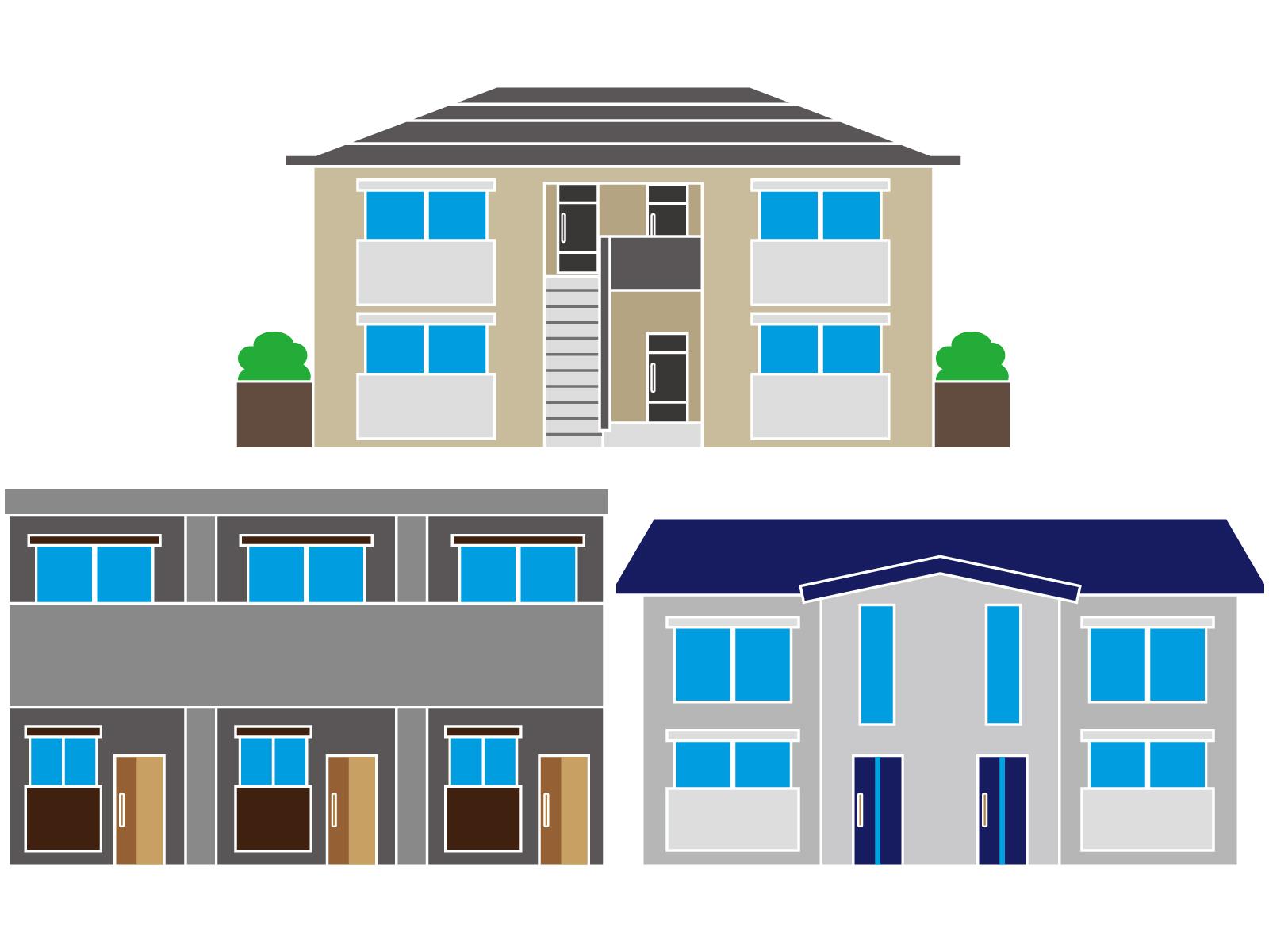 賃貸の利用目的や用途はいろいろあります。戸建てや集合住宅は「住宅」、事務所や店舗は「商業」という用途で使われ、建物管理方法もひとつひとつ異なります。